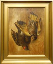 American Game Birds 1880's Oil Painting