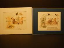 Dolls & Children's Stories: Table manners Antique Color Lithographs