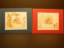 Dolls & Children's Stories: Table manners Antique Color Lithographs