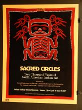 Sacred Circles/American Indian 1977 Exhibition Poster