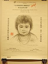 Edna Hibel: Golden Bridge Exhibition Poster