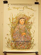 Edna Hibel: Magic Of Porcelain Exhibition Poster
