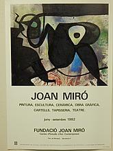 Joan Miro: 1982 Exhibition Poster