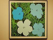 Andy Warhol: Flowers (Blue) Silk Screen Poster