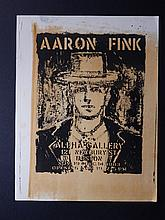Aaron Fink:1983 Alpha Gallery Color Lithograph Poster