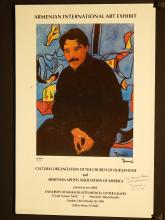 Romard 1993 Armenian Exhibition Poster, Signed