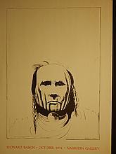 Leonard Baskin: 1974 Nasrudin Gallery Exhibition Poster