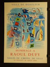 Raul Duffy 1954 Exhibition Poster