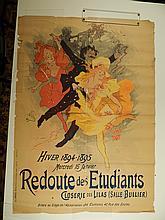Jules Cheret:  Redoute Des Etudiants 1894 Poster