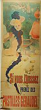 Jules Cheret: Pastilles Geraudel 1890 Poster