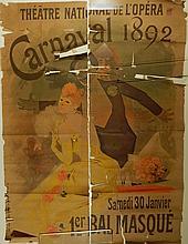 Jules Cheret:  Carnaval 1892/Theatre Nationale De l'Opera Poster