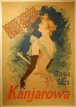 Jules Cheret: Kanjarova/Follies Bergere Poster