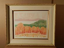 Howard Besnia: View To South, Watercolor