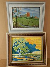 Howard Besnia: 2 Oil Painting Landscapes