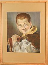 Howard Besnia: Boy, After Tiepolo, Pastel