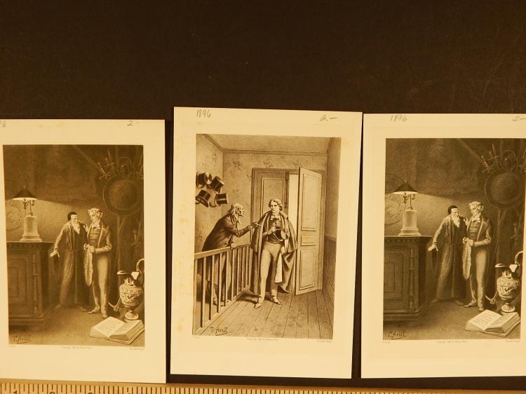 Paul Avril:3 Antique 1897 Prints