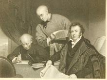 Morrison Translating Bible Into Chinese: 19th C. Engraving