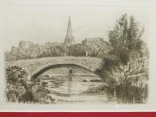 Miller's Bridge, Ambleside, Etching