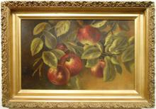 Victorian Apple Oil Painting c.1890