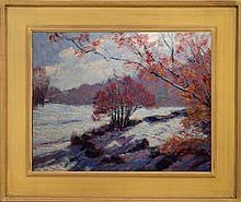 Bruce Wood: Early Snow, Oil Landscape