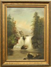 White Mountain School: Landscape , c.1890, Oil on Canvas