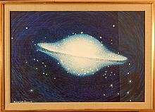 Howard Besnia: Planet, 1989 Watercolor