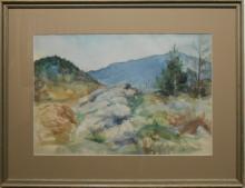 Ethel Barton: Maine Mountain Watercolor