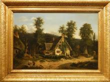 Louis Montvignier:  Continental Farm Landscape C.1840