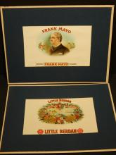 Two Antique Cigar Labels: Frank Mayo & Little Berden