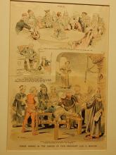 1890's Puck Magazine Illustration: Career of VP Levi Morton