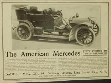 1905 American Mercedes Ad