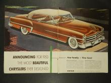 Chrysler 1953 Double-Page  Automobile Ad