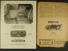 1926 Benz & Rolls Royce Leather Auto Ad