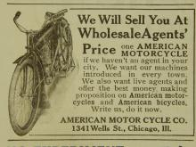 American  Motorcycle Ad 1910
