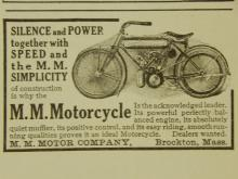 MM 1910  Motorcycle Ad