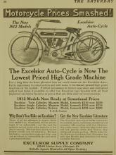 Excelsior Autocycle 1912  Motorcycle  Ad