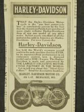 Harley Davidson 1911 Motorcycle Ad