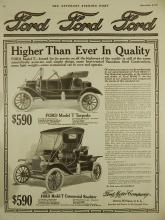 1911 Ford Model T Torpedo & Commercial Roadster Ad