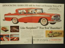 Rambler 1957 Double-Page Automobile Ad