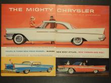 Chrysler 1957 Windsor  Double-Page Auto Ad