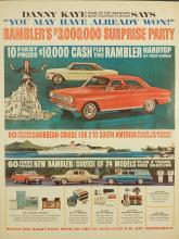 Rambler/Danny Kaye Surprise Party 1964 Automobile Ad