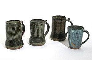 Ladi Kwali (1925-1984) three Abuja stoneware