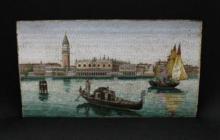 A mid-19th century Italian micro mosaic Panel OF Venice
