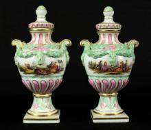 PAIR OF MINIATURE MEISSEN VASES