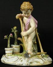 19th C. Meissen Gardener