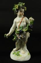 MEISSEN FIGURE WITH GRAPES