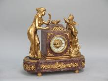 Marble and Ormolu Mantel Clock