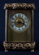 MINIATURE BRONZE REGULATOR CLOCK