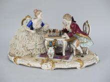 Dresden Style Lace Porcelain Group