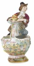 19TH C. MEISSEN PORCELAIN FIGURAL VESSEL